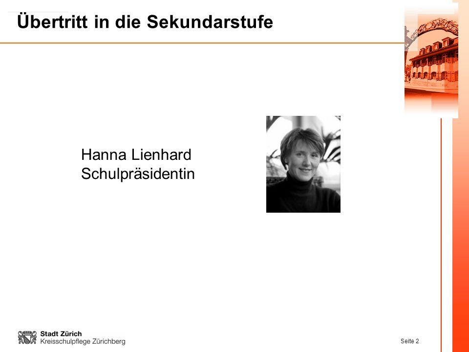 Hanna Lienhard Schulpräsidentin