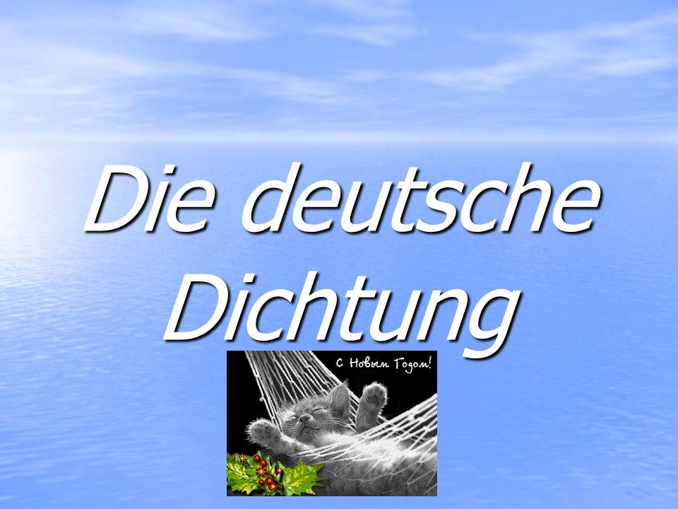 Die deutsche Dichtung