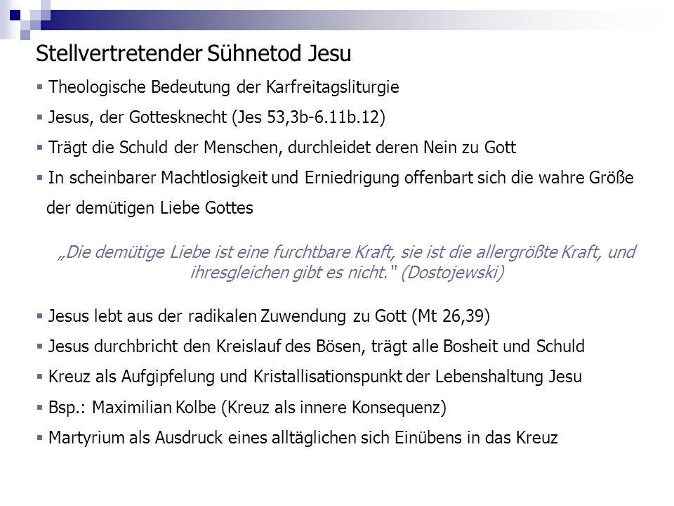 Stellvertretender Sühnetod Jesu