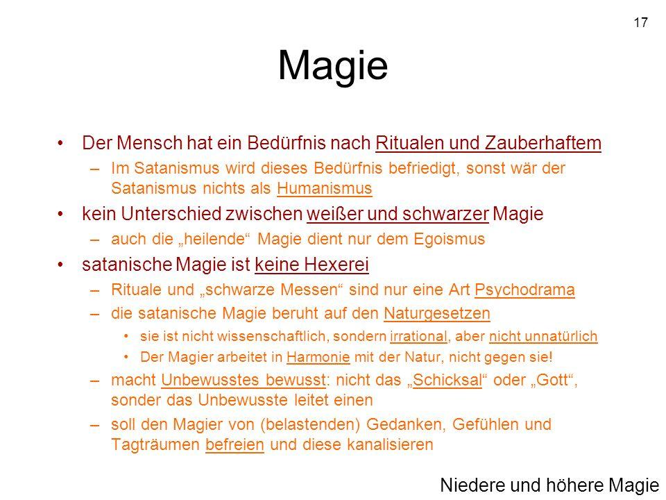 Magie Der Mensch hat ein Bedürfnis nach Ritualen und Zauberhaftem