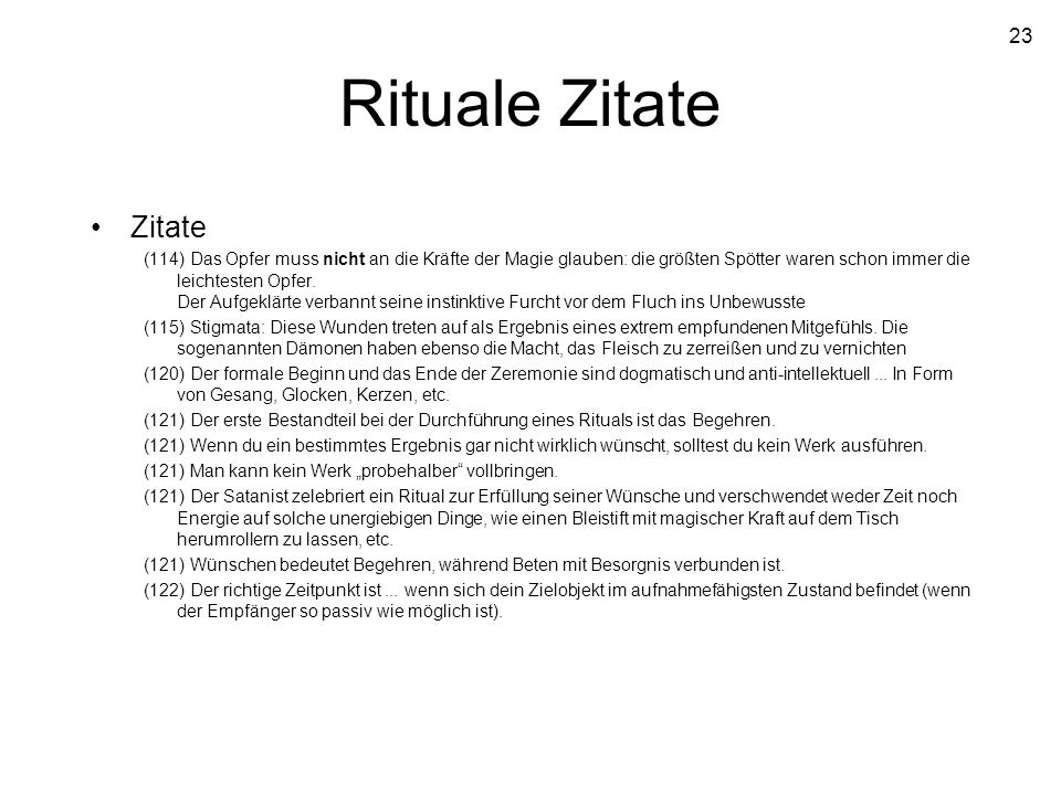 Rituale ZitateZitate.
