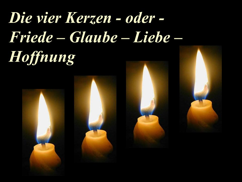 Gedicht advent vier kerzen