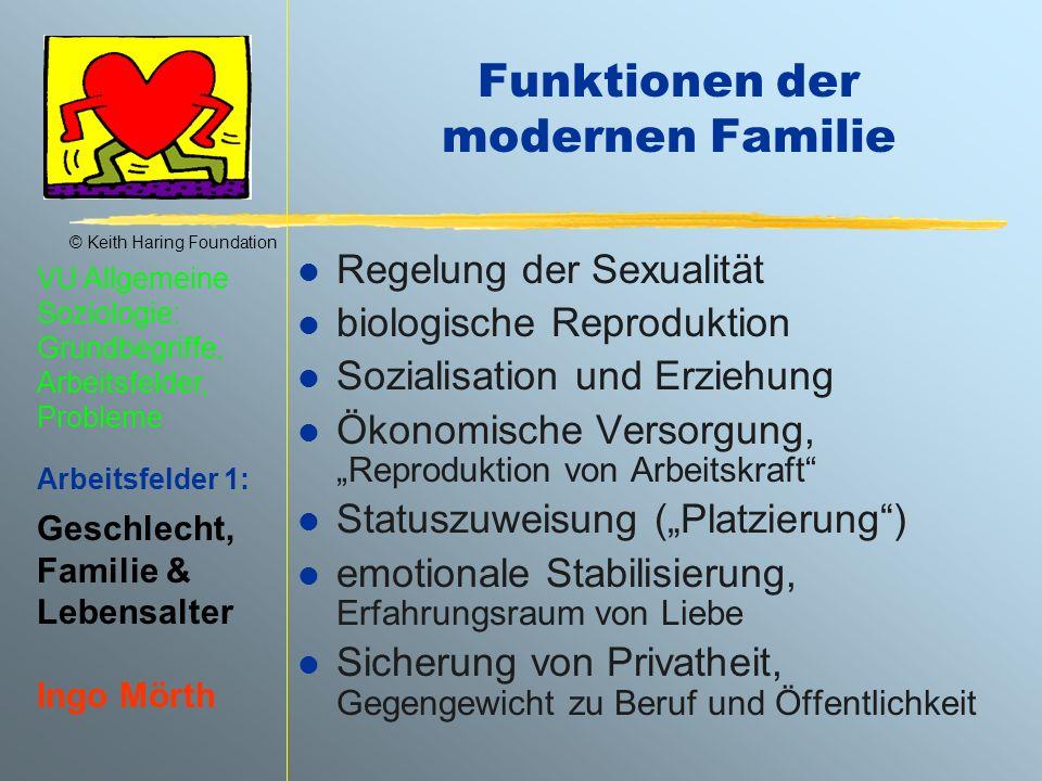 Funktionen der modernen Familie