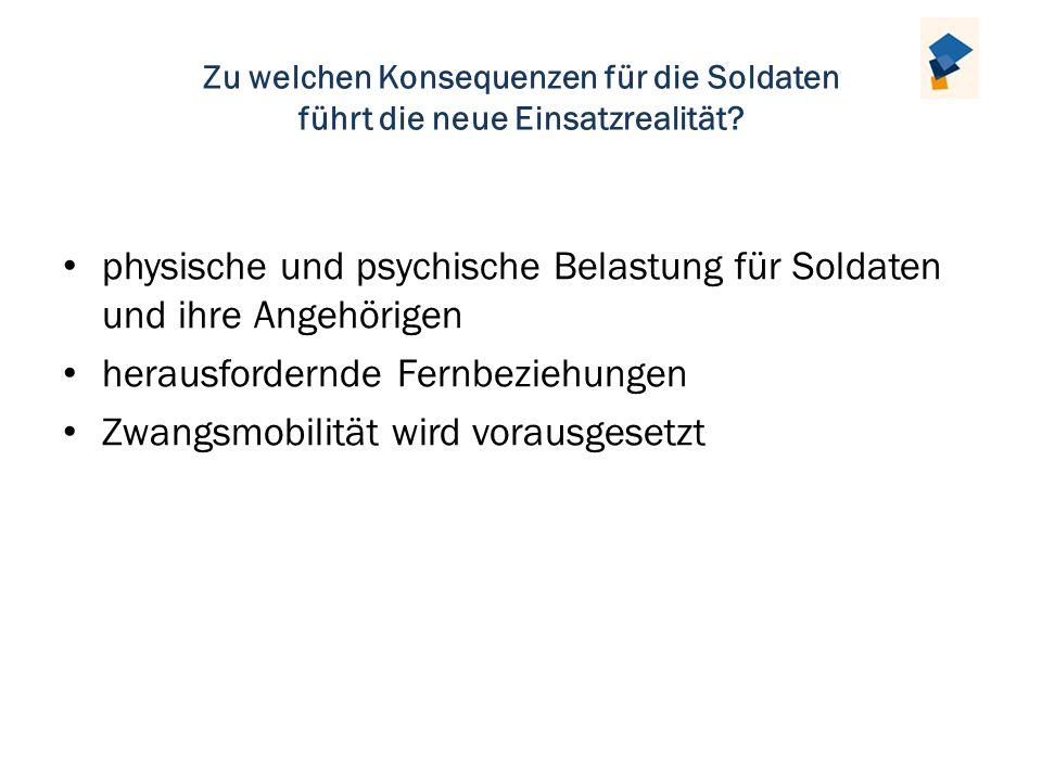 physische und psychische Belastung für Soldaten und ihre Angehörigen