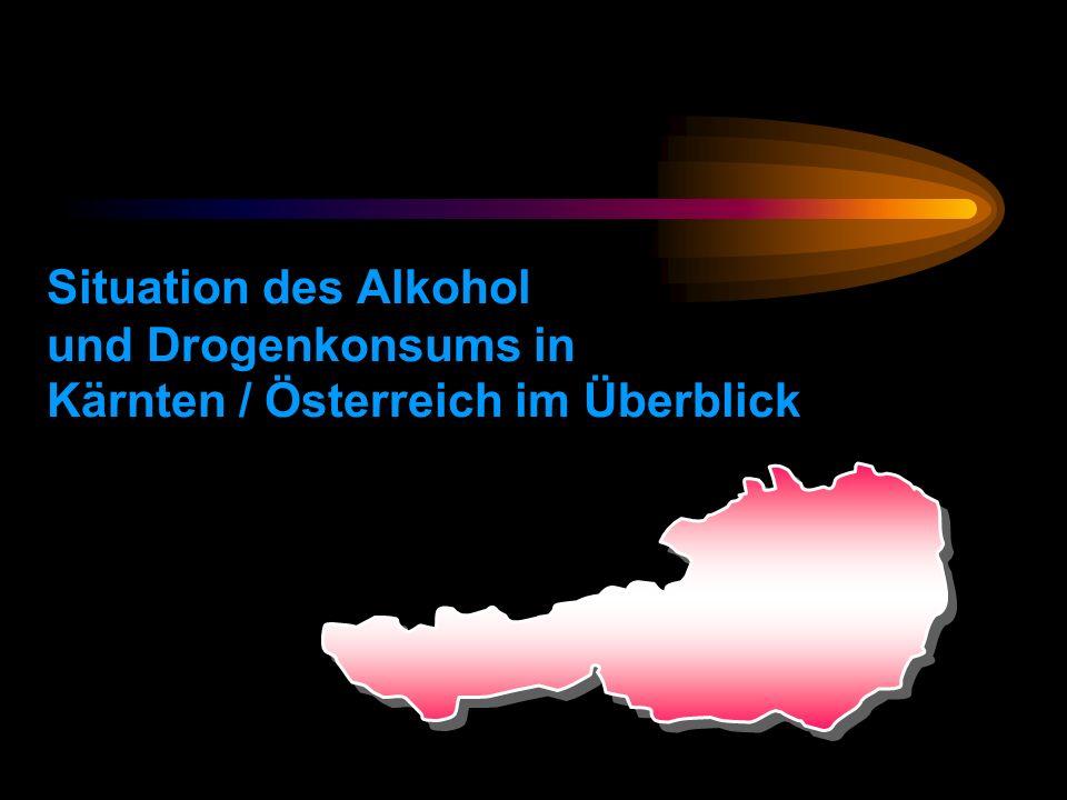 Situation des Alkohol und Drogenkonsums in Kärnten / Österreich im Überblick