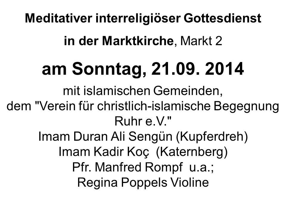 Meditativer interreligiöser Gottesdienst