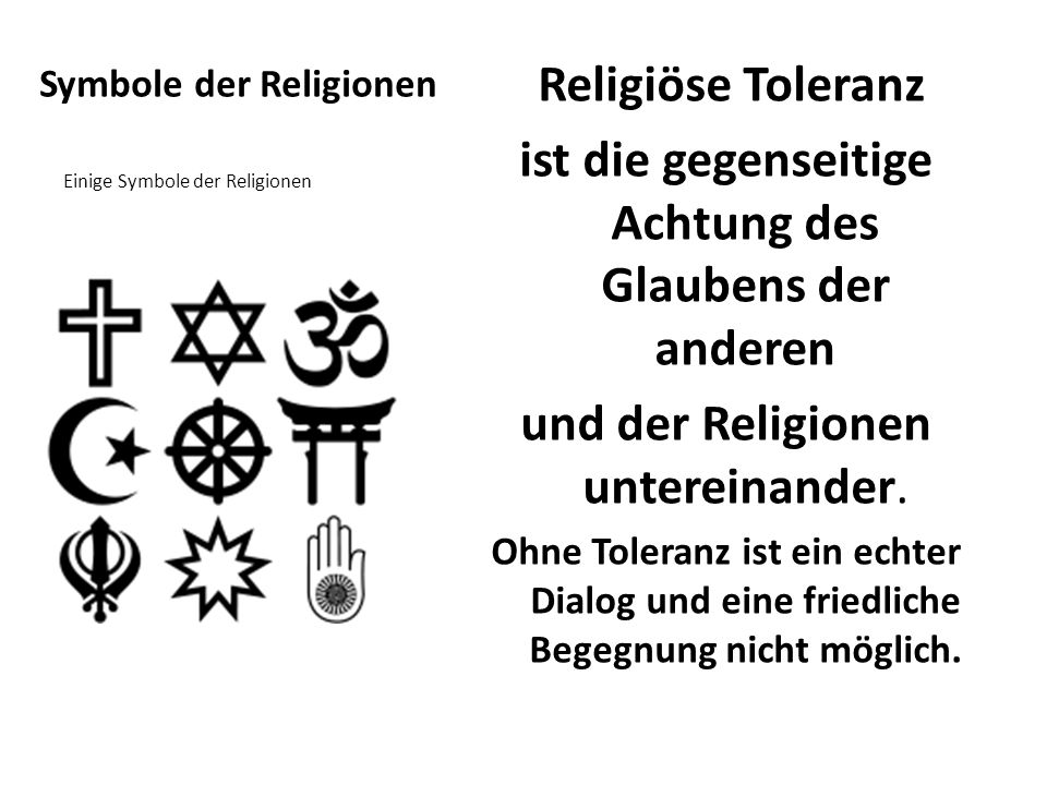 Symbole der Religionen