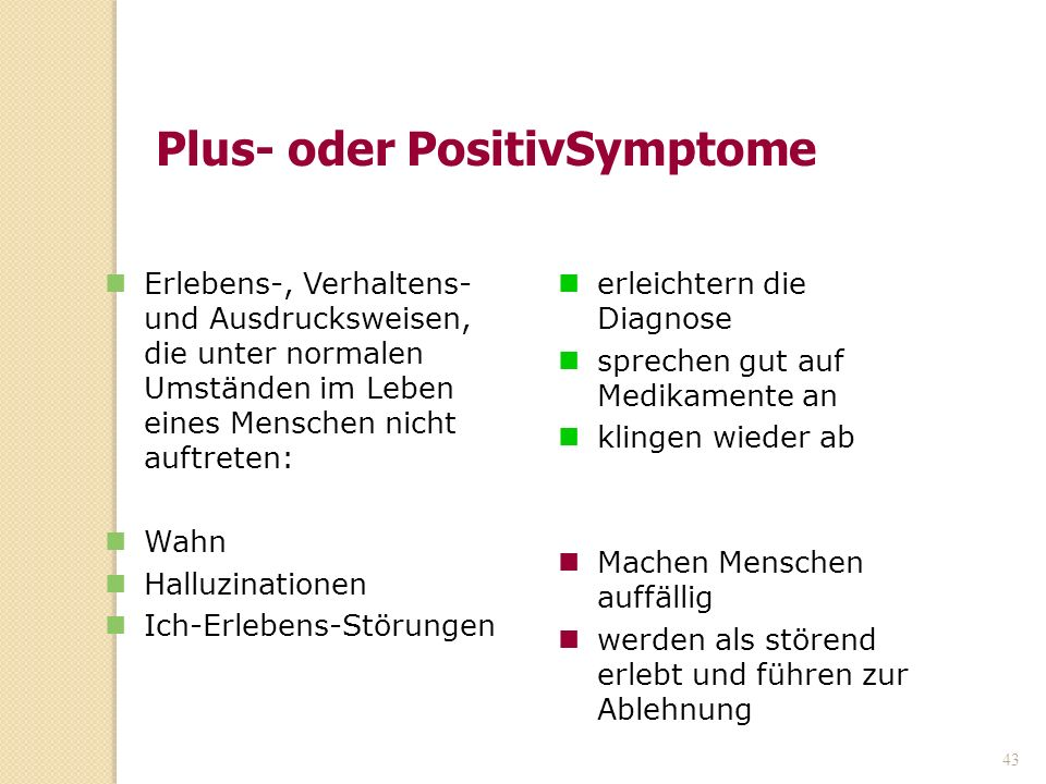 Plus- oder PositivSymptome