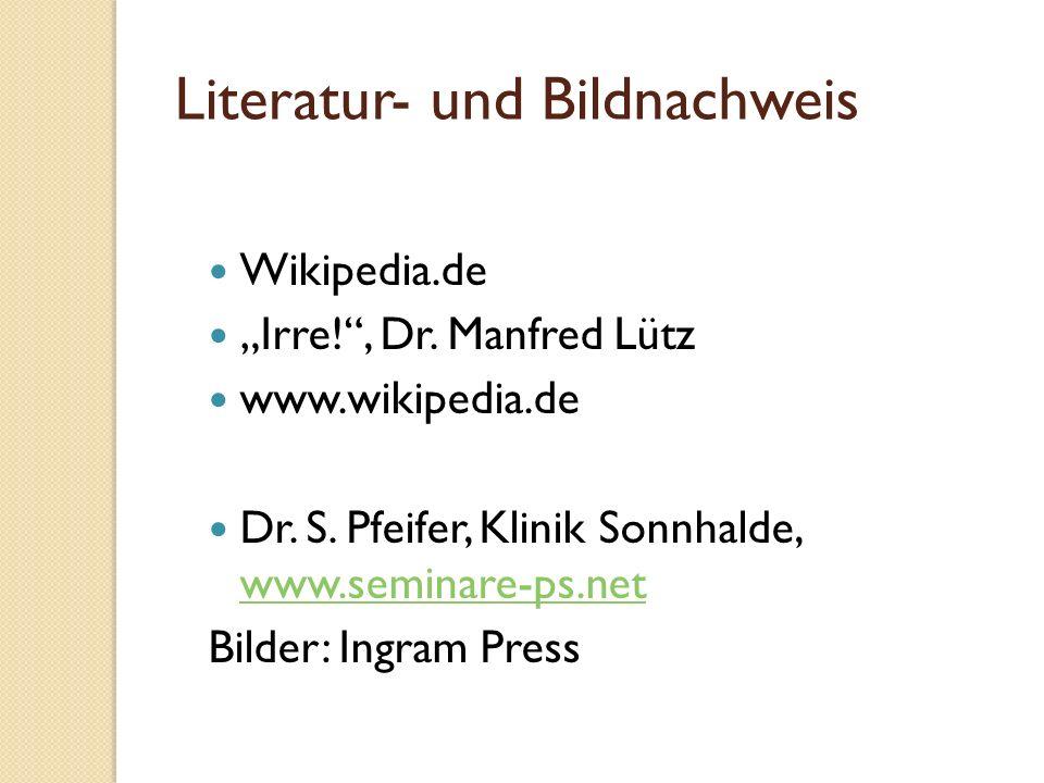 Literatur- und Bildnachweis
