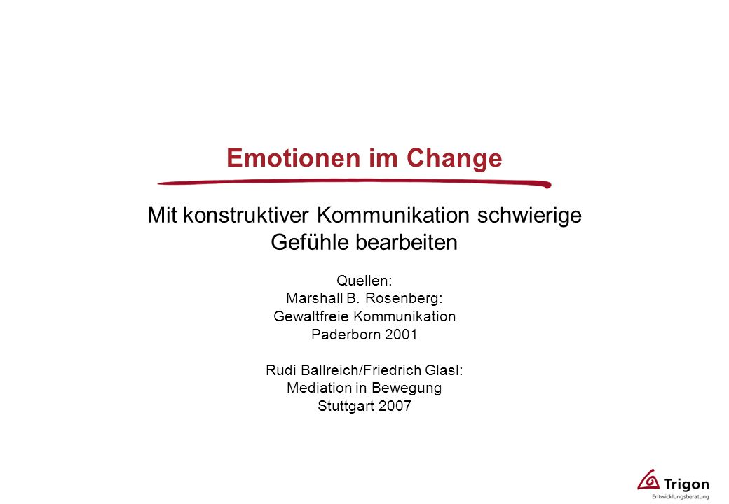 Mit konstruktiver Kommunikation schwierige Gefühle bearbeiten