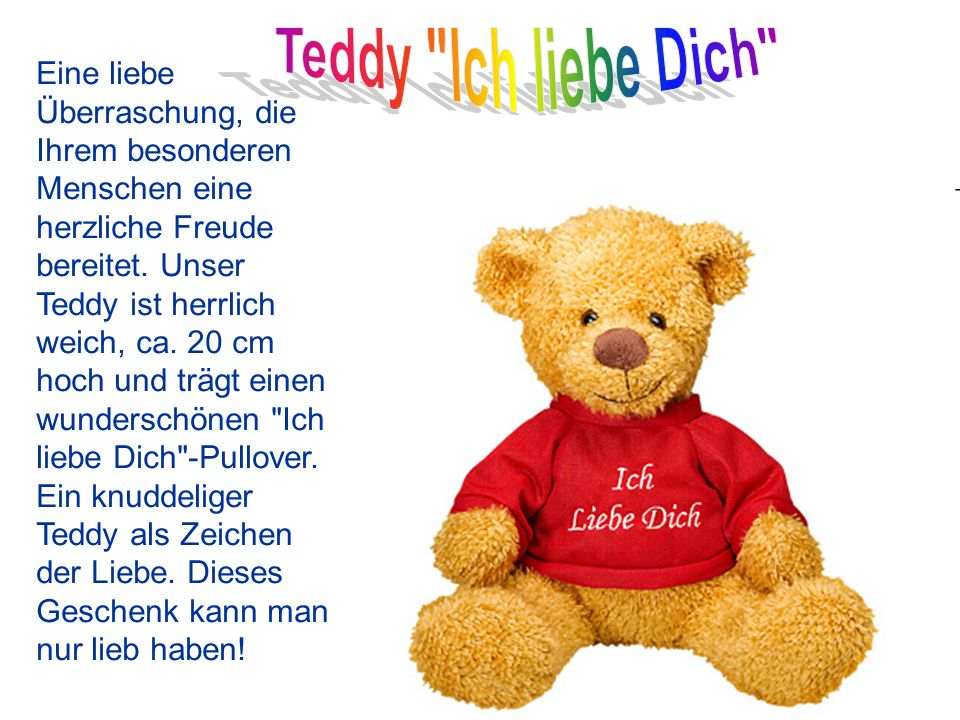 Teddy Ich liebe Dich