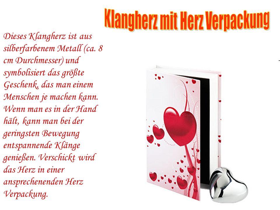 Klangherz mit Herz Verpackung