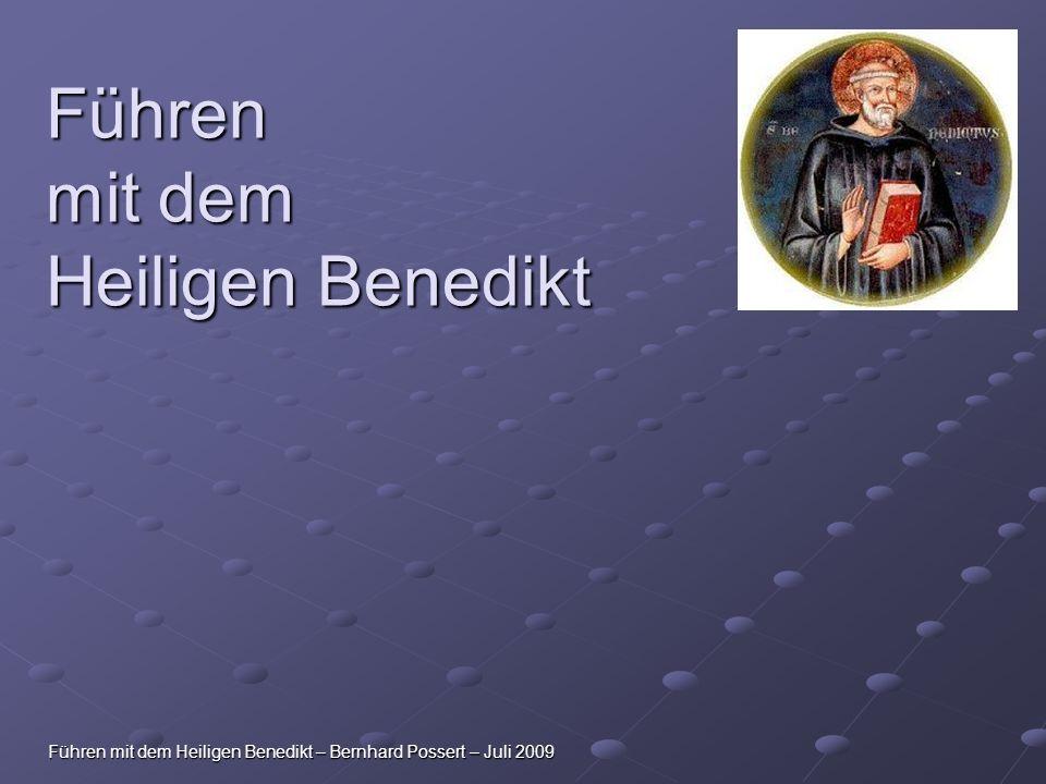 Führen mit dem Heiligen Benedikt