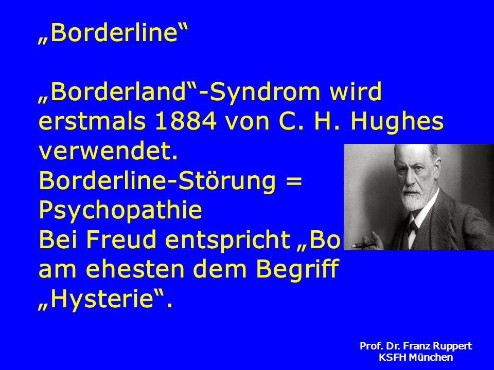 """""""Borderline """"Borderland -Syndrom wird erstmals 1884 von C. H"""