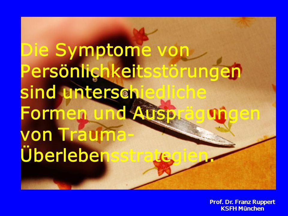 Die Symptome von Persönlichkeitsstörungen sind unterschiedliche Formen und Ausprägungen von Trauma-Überlebensstrategien.