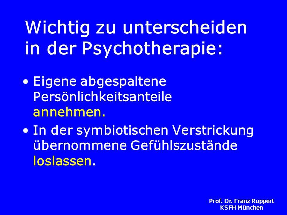Wichtig zu unterscheiden in der Psychotherapie: