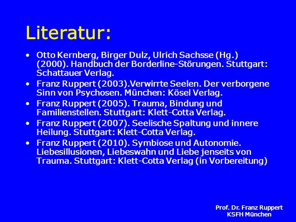 Literatur: Otto Kernberg, Birger Dulz, Ulrich Sachsse (Hg.) (2000). Handbuch der Borderline-Störungen. Stuttgart: Schattauer Verlag.