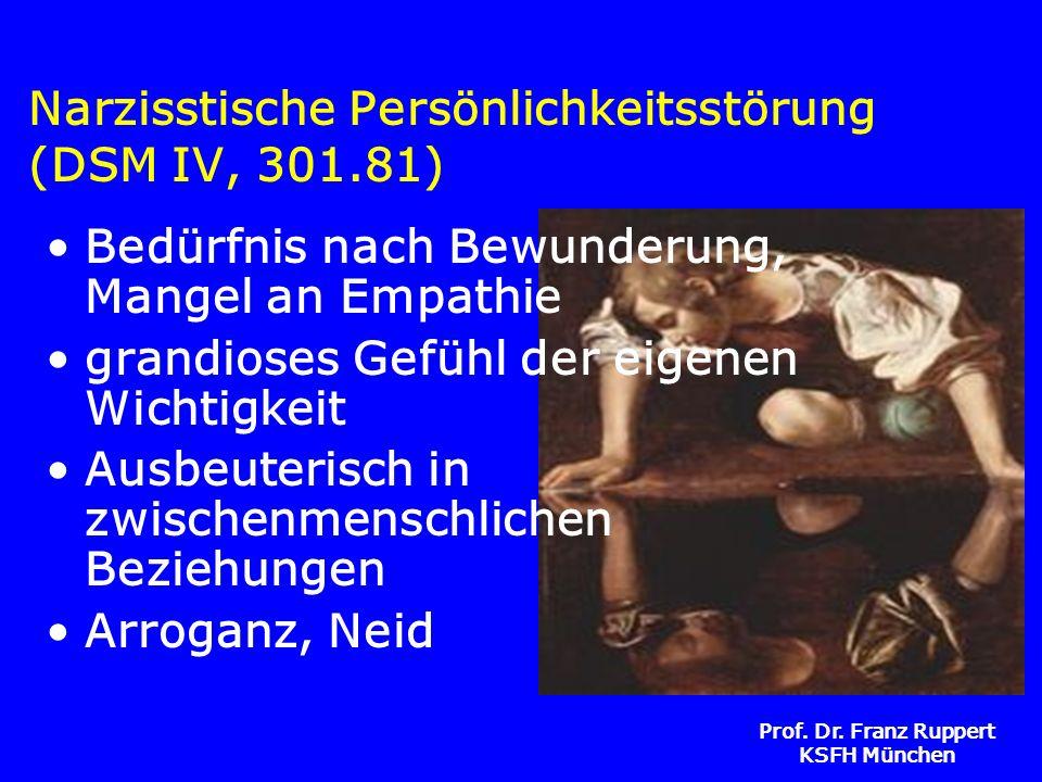 Narzisstische Persönlichkeitsstörung (DSM IV, 301.81)