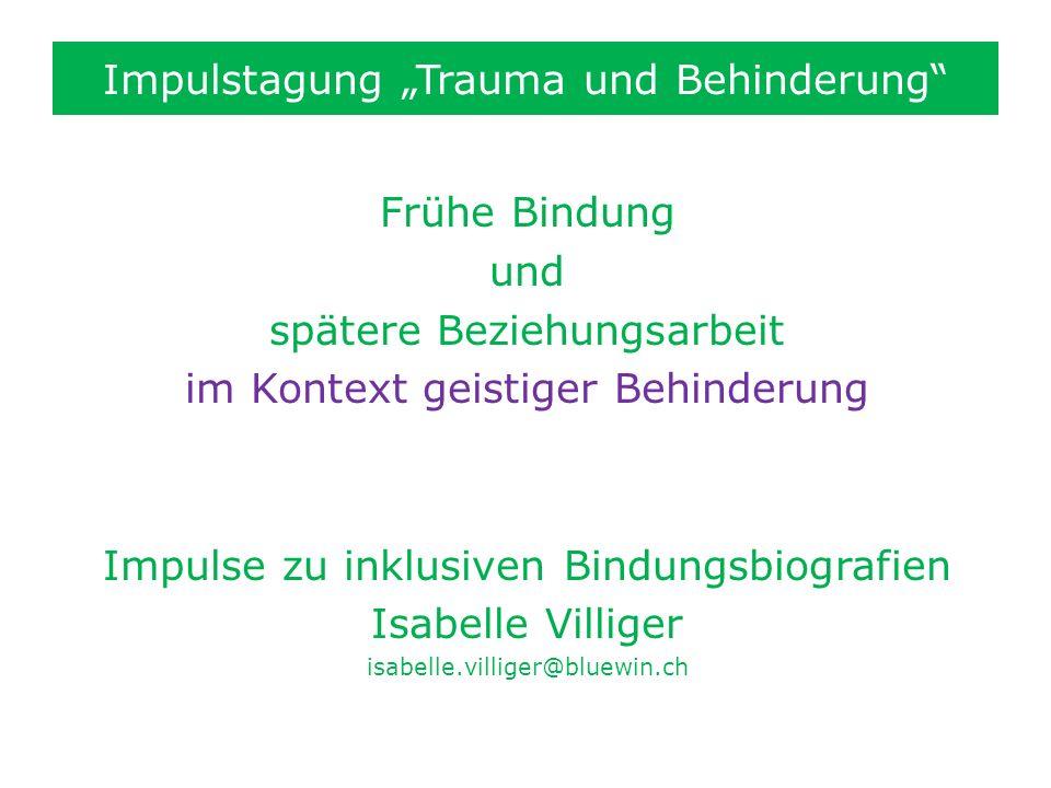 """Impulstagung """"Trauma und Behinderung"""