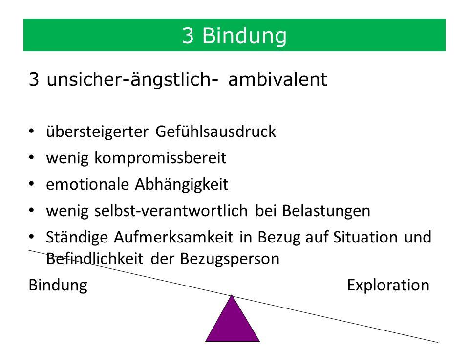 3 Bindung 3 unsicher-ängstlich- ambivalent