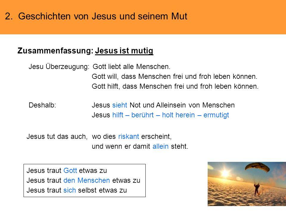 Zusammenfassung: Jesus ist mutig