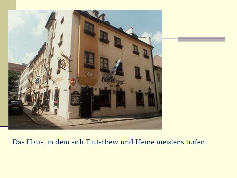 Das Haus, in dem sich Tjutschew und Heine meistens trafen.