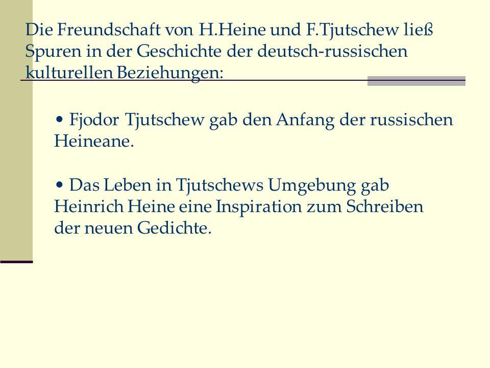 Die Freundschaft von H. Heine und F