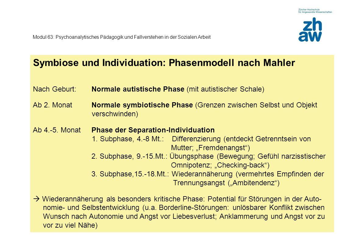 Symbiose und Individuation: Phasenmodell nach Mahler