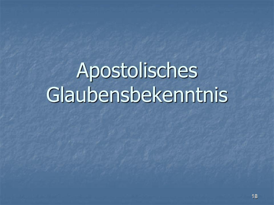 Apostolisches Glaubensbekenntnis