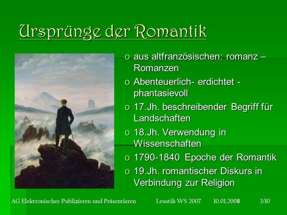Ursprünge der Romantik