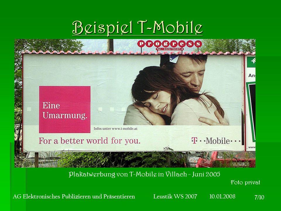 Plakatwerbung von T-Mobile in Villach - Juni 2005
