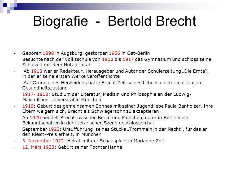 Biografie - Bertold Brecht