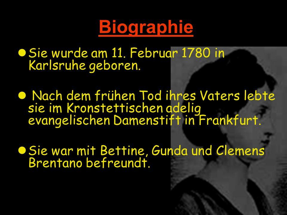 Biographie Sie wurde am 11. Februar 1780 in Karlsruhe geboren.