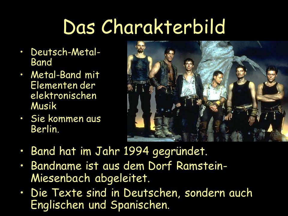 Das Charakterbild Band hat im Jahr 1994 gegründet.
