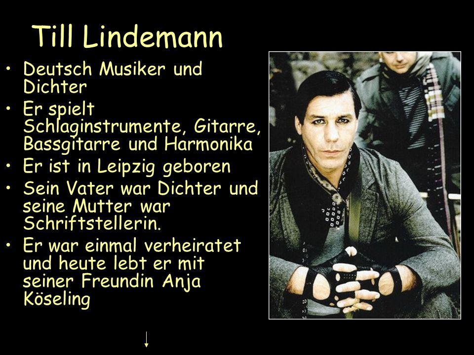 Till Lindemann Deutsch Musiker und Dichter