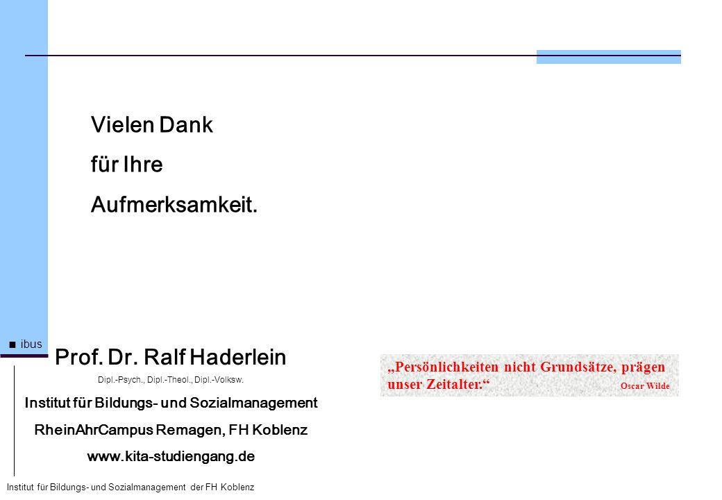 Vielen Dank für Ihre Aufmerksamkeit. Prof. Dr. Ralf Haderlein