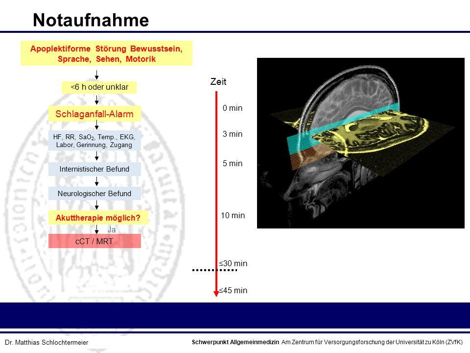 Apoplektiforme Störung Bewusstsein, Sprache, Sehen, Motorik