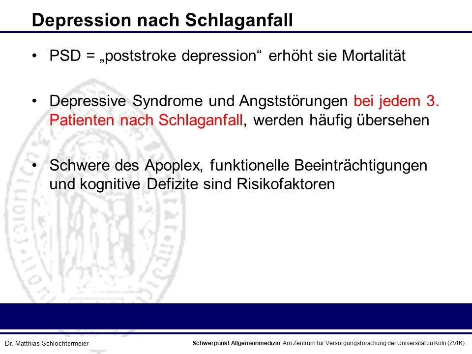 Depression nach Schlaganfall