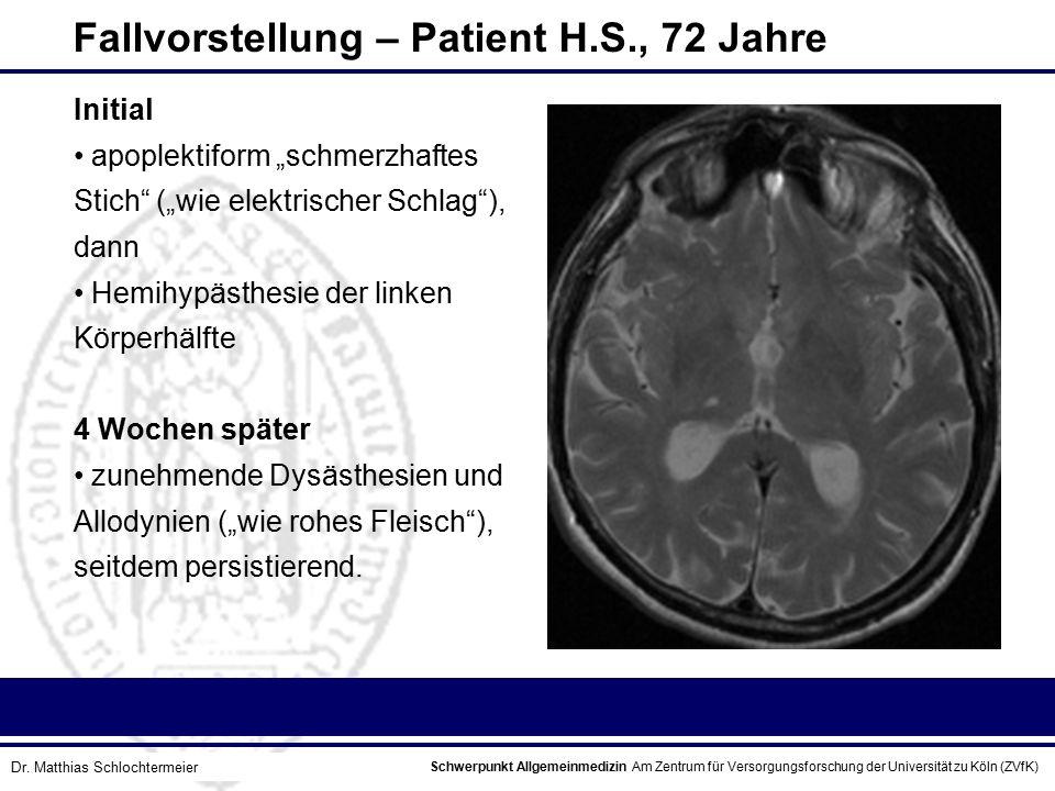 Fallvorstellung – Patient H.S., 72 Jahre