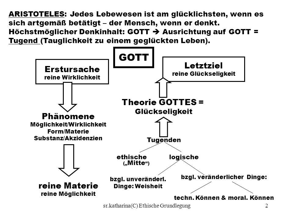 GOTT Letztziel Erstursache Theorie GOTTES = Phänomene reine Materie