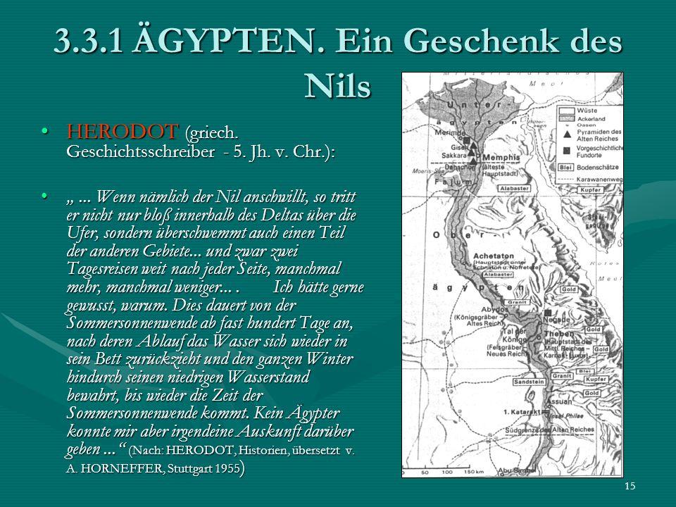 3.3.1 ÄGYPTEN. Ein Geschenk des Nils