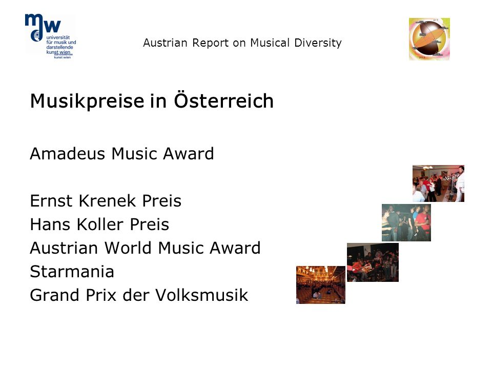 Austrian Report on Musical Diversity