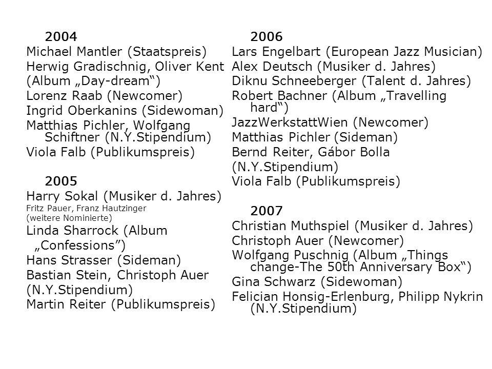 Michael Mantler (Staatspreis) Herwig Gradischnig, Oliver Kent