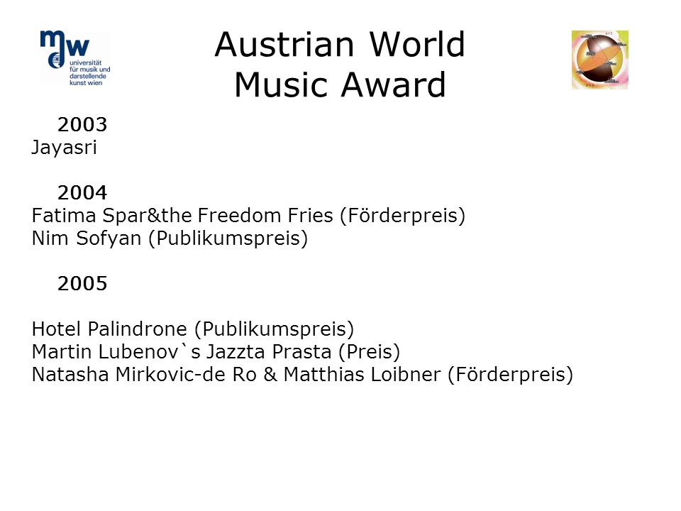 Austrian World Music Award