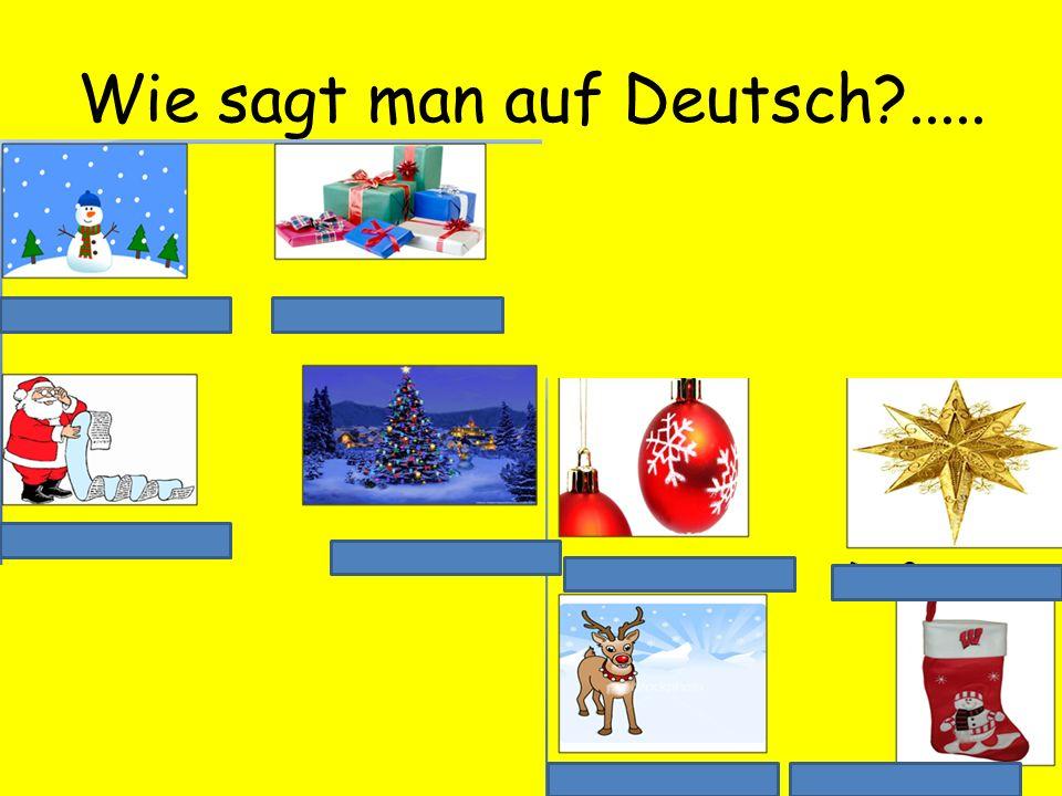Wie sagt man auf Deutsch .....