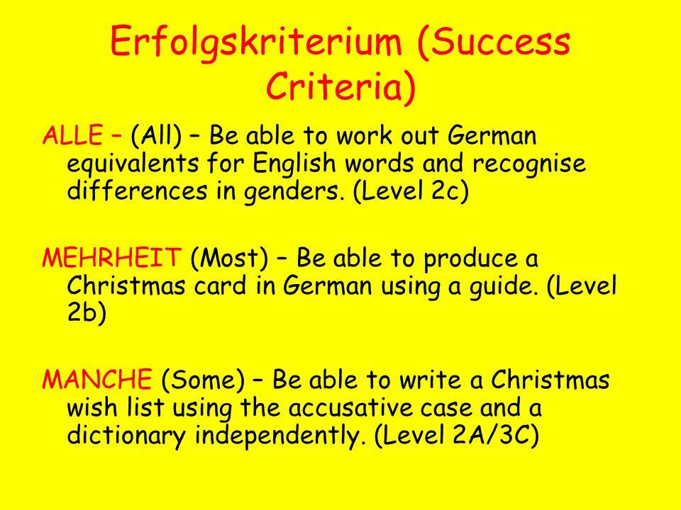 Erfolgskriterium (Success Criteria)