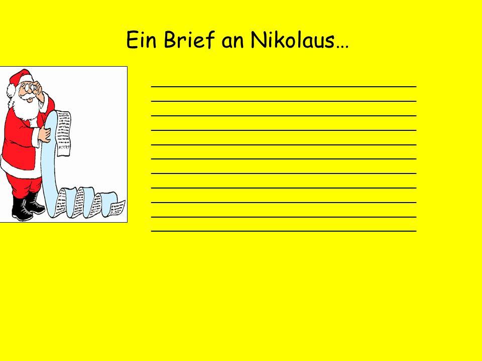Ein Brief an Nikolaus…
