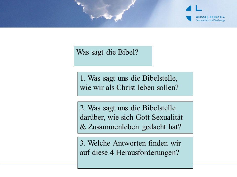 Was sagt die Bibel 1. Was sagt uns die Bibelstelle, wie wir als Christ leben sollen