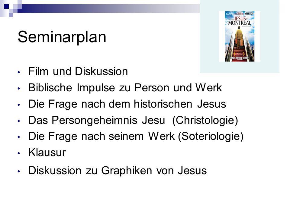Seminarplan Film und Diskussion Biblische Impulse zu Person und Werk