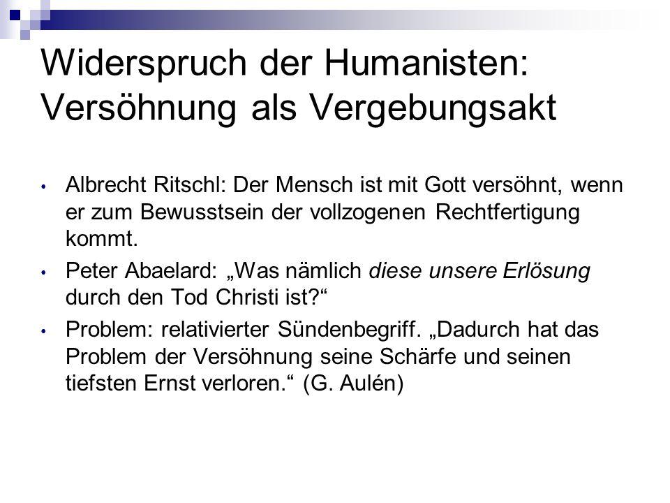 Widerspruch der Humanisten: Versöhnung als Vergebungsakt